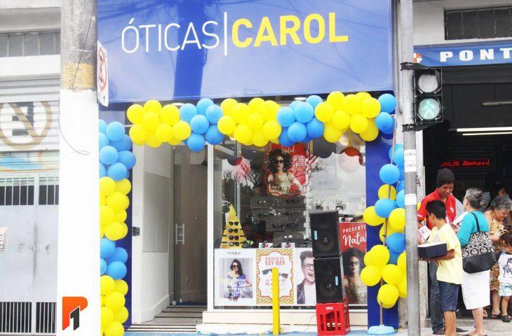 3168fd41923 Entrada da Óticas Carol - Unidade Santo Eduardo (Foto  Thais Araújo )